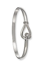 Lovers Knot Hook Bracelet - Sterling Silver