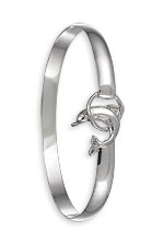 Dolphin Circle Hook Bracelet - Sterling Silver